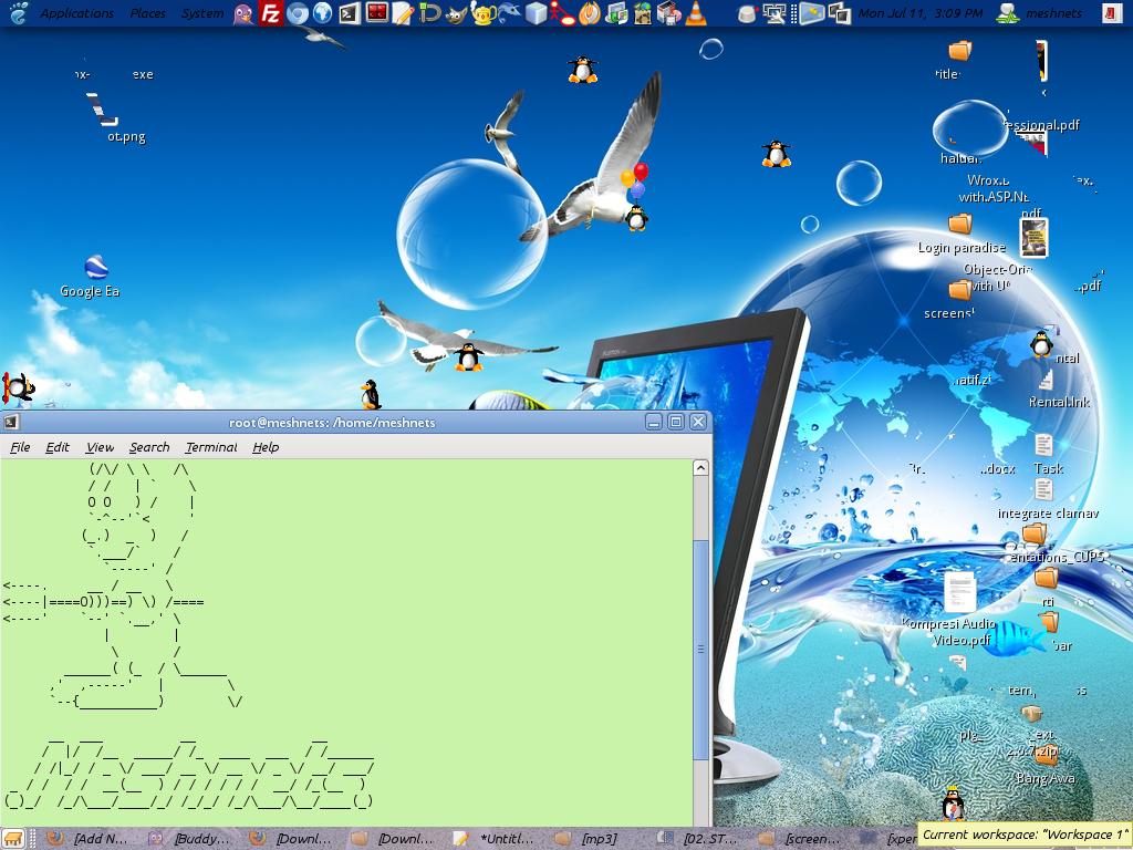 Animasi Penguin Di Ubuntu Mulyadiswordpresscom